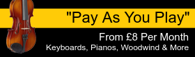Instrument rental from £8 per month