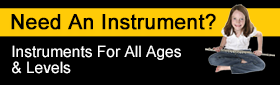 Need an instrument? Instruments for all ages and levels